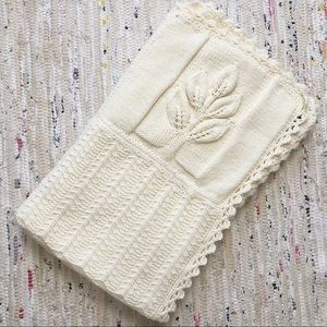 Handmade Cream Patchwork Crochet Throw Blanket